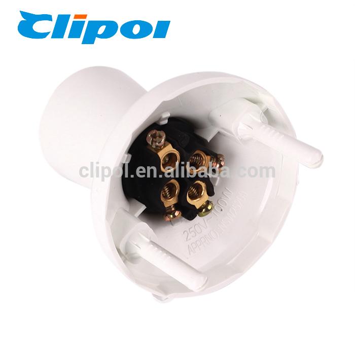Big discounting Usb Socket For Caravan - Lamp socket electric Australia standard SAA lamp base batten holder with fasteners plug – Clipol