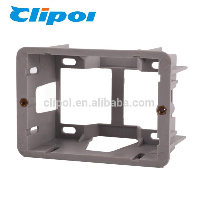 Surface mounted australia electrical wall switch bottom standard flush box
