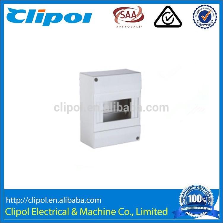 6Poles Indoor MCB Distribution Box Plastic Din Rail MCB Enclosure