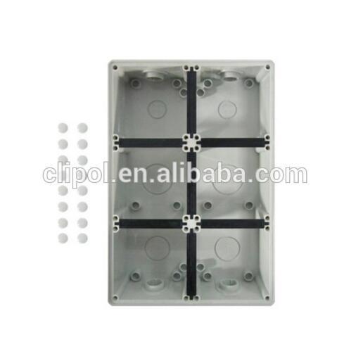 Hot New Products As/Nzs Wall Swicth - 6 Gang Mounting Enclosure C66MEB6 – Clipol
