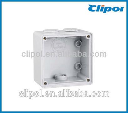Practical single gang electrical enclosure plastic box wall mount