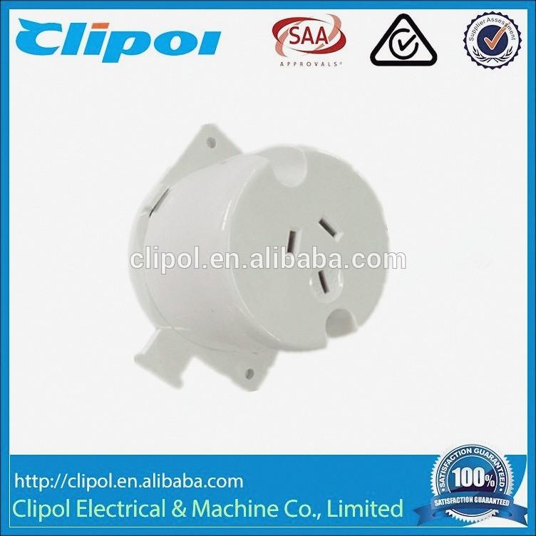 SS110N 3Pin 250V 10A AS/NZS LED lights used surface socket single plug base